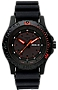 Traser Red Combat P66 Tritium Military Watch Blackout Dial with Red Accents, Sapphire Crystal, Rubber Dive Strap