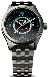 Traser P59 Aurora Pilot's GMT Watch with Tritium Illumination and a True 24 Dial