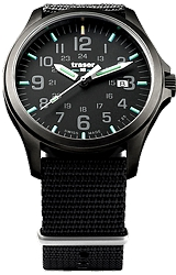 Traser Officer Pro Gunmetal Black Tritium Watches