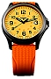 Traser P67 Officer Pro GunMetal Glowing Dial Watches Orange Lumibrite Glowing Dial, Gunmetal finish Steel Case, Orange Dive Strap