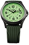 Traser P67 Officer Pro GunMetal Glowing Dial Watches Lime Green Lumibrite Glowing Dial, Gunmetal finish Steel Case, Lime Dive Strap