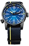 Traser P68 Pathfinder Tritium Enhanced Swiss Automatic Watches with Compass Bezel Midnight Blue Sunray Dial, Nylon Strap with Matching Accent Stripe
