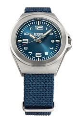 Traser P59 Essential S Blue Mid-Size Tritium Watches Blue Dial, Steel Case, Blue Nylon Strap (108210)