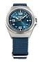 Traser P59 Essential S Blue Mid-Size Tritium Watches Blue Dial, Steel Case, Blue Nylon Strap