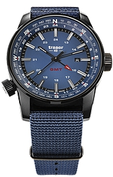 Traser P68 Pathfinder GMT Tritium Watch Series with Dual Time and Compass Bezel
