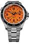Traser P67 Super-Sub Tritium Professional Dive Watch, 500 Meter, Orange Dial Series All Stainless Steel Case & Bracelet, Tritium Illumination, Sapphire Crystal