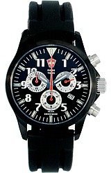 Swiss Timer Black Sports Tritium Chronograph