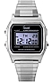Speidel Classic Digital LCD Alarm Chronograph, Steel Case and Bracelet Backlit Digital Display, Steel Case, Twist-O-Flex Bracelet