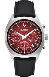 Bulova Accutron II Surveyor Retro Style Chronograph, Red Dial