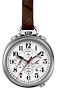 Bulova Ultra High Frequency Chronograph Pocket Watch White Dial with 4 subdials, 1/1000th Second Chronograph with Leather Fob