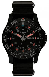 Traser P66 Elite Red Tactical Military Watch with Red Tritium