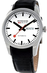Mondaine Classic Automatic Day Date Watch