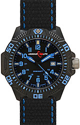 ArmourLite Caliber Series Black Dial, Blue Numerals with Blue Accent Nato Band (AL601)