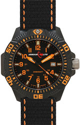 ArmourLite Caliber Series Black Dial, Orange Numerals with Orange Accent Nato Band (AL602)