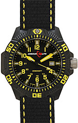 ArmourLite Caliber Series Black Dial, Yellow Numerals with Yellow Accent Nato Band (AL604)
