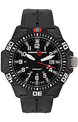 ArmourLite Caliber Series Black Dial, White Numerals with Red Accents, Nitrile Butadiene Rubber (NBR) Band (AL613)