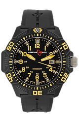 ArmourLite Caliber Series Black Dial, Yellow Numerals and Hands, Nitrile Butadiene Rubber (NBR) Band (AL614)