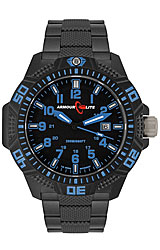 ArmourLite Caliber Series Black Dial, Blue Numerals with Black PVD Stainless Steel Bracelet (AL621)