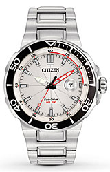 Citizen Endeavor Eco-Drive Collection of Ocean Sport Watches White Dial, Steel Case & Bracelet (AW1420-55A)