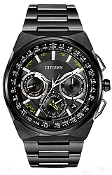 Citizen Satellite Wave GPS F900 World Time Chronograph Watches LIMITED EDITION: Individually Numbered, Only 1,700 Worldwide, Black Super Titanium (CC9005-58E)