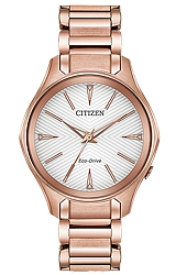 Citizen Modena Pink Gold Tone Women's Eco-Drive Watch