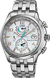 Citizen Ladies World Time A-T Watches Silver Tone Stainless Steel Bracelet (FC0000-59D)