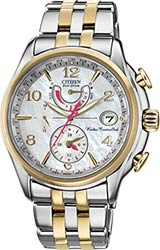 Citizen Ladies World Time A-T Watches Two Tone Stainless Steel Bracelet (FC0004-58D)