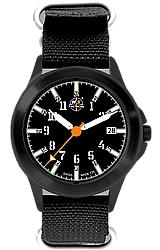 H3 Tactical Trooper Steel, Traditional Size Men's Tritium Watch