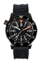 H3 Tactical S.W.A.T. Police & Military Tritium Watch Black Dial, Black Signature Rubber Dive Strap