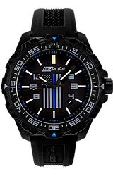 ArmourLite The Thin Blue Line, Law Enforcement Limited Edition T100 Tritium Watches, ISO3005, ISO3006 Large Size Military Grade Watch, Thin Blue Line Flag Logo on Front and Back (ISO3005)
