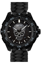 ArmourLite IsoBright Enforcer II Limited Edition T100 Tritium and Luminescent Watch Photoluminescent Glowing Skull Dial, Paracord Woven Bracelet (ISO3007-PARACORD)