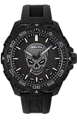 ArmourLite IsoBright Enforcer II Limited Edition T100 Tritium and Luminescent Watch Photoluminescent Glowing Skull Dial, Rubber Dive Strap (ISO3007)