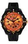 ArmourLite IsoBright Valor T100 Color Tritium Watches Orange Dial with Orange Tritium, Black Carbon Reinforced Polymer Case and Silicone Dive Strap