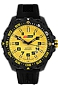 ArmourLite IsoBright Valor T100 Color Tritium Watches Yellow Dial with Yellow Tritium, Black Carbon Reinforced Polymer Case and Silicone Dive Strap