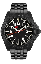 ArmourLite Limited Edition IsoBright Swiss Automatic Tritium Watches Stunning 64 T100 Tritium Tubes, Black PVD Steel Case & Bracelet (ISO702)
