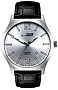 ArmourLite IsoBright Grand Slimline Series of Men's Ultra Thin Tritium Watches Silver Dial, Black Leather Strap