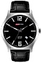 ArmourLite IsoBright Grand Slimline Series of Men's Ultra Thin Tritium Watches Black Dial, Black Leather Strap