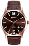ArmourLite IsoBright Grand Slimline Series of Men's Ultra Thin Tritium Watches Brown Metallic Dial, Brown Leather Strap