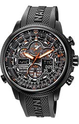 Citizen Navihawk A-T Pilot's Flight Watch Black Stainless Steel With Polyurethane Band (JY8035-04E)