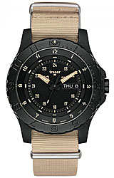 Traser P6600 Sand Tactical Tritium Collection Day/Date, Sand Strap (P6600.1AAI.L3.01)