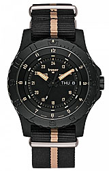 Traser P6600 Sand Tactical Tritium Collection Day/Date, Nato Strap, Sand Stripe (P6600.2AAI.L3.01)