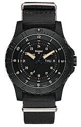 Traser P6600 Sand Tactical Tritium Collection Day/Date, Solid Black Nato Strap (P6600.4AI.3L.01)