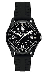 Traser Officer Pro Series Black Dial, Rubber Strap (107108)