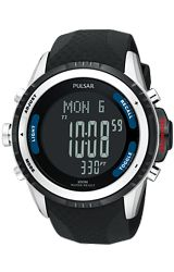 Pulsar Tech Gear Outdoor Sports Chronograph, Altimeter, Barometer Alarm Watch