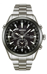 Seiko Astron Astron GPS Solar Watches TITANIUM Case and Bracelet, Ceramic Bezel, Black Dial  (SAST003)