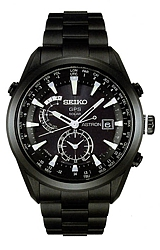 Seiko Astron Astron GPS Solar Watches Black TITANIUM Case and Bracelet, Ceramic Bezel, Black Dial  (SAST007)