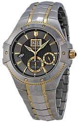 Seiko Coutura Kinetic Perpetual Calendar Watches Gray Dial with Goldtone HIghlights, Two Tone Steel Case & Bracelet (SNP108)