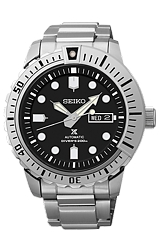 Seiko PROSPEX 200 Meter, 24 jewel Automatic Dive Watches All Stainless Steel Case & Bracelet with Black Dial (SRP585)