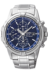 Seiko Racing Chronograph SOLAR Watch with Tachymeter and Alarm