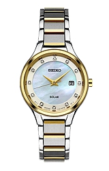Seiko Women's Diamond Dial Solar Dress Watches